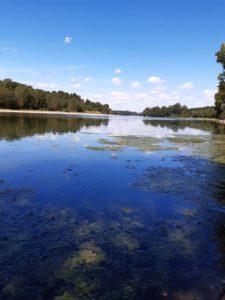 Bord de la Garonne sous un ciel bleu. La liberté et la douceur du Touch For Health mises en cliché par Françoise de La Roche